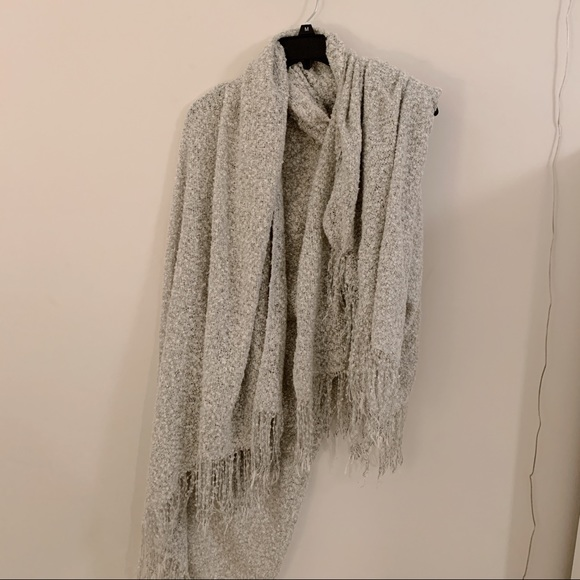 9b18ad94f Free People Accessories | Fp Gray Silver Blanket Scarf | Poshmark